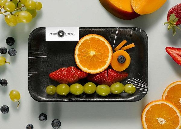 切开的水果儿童画