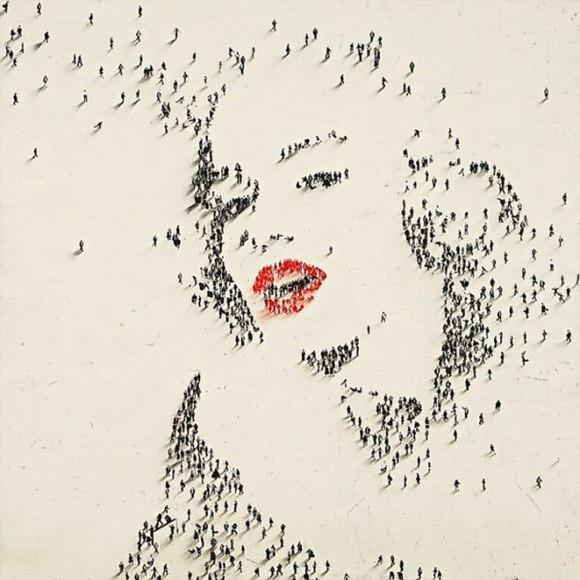 它们是由许许多多的人组成的!这可是艺术家craig alan的一系列大作.图片
