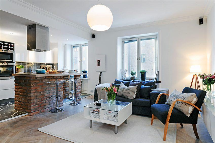 案例赏析>45平单身公寓华丽装修效果欣赏